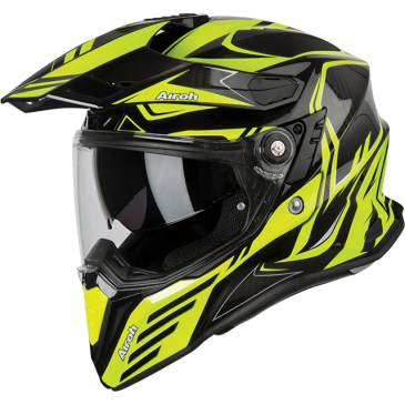 CASQUE AIROH COMMANDER CARBON YELLOW GLOSS