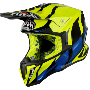 CASQUE AIROH TWIST GREAT YELLOW GLOSS