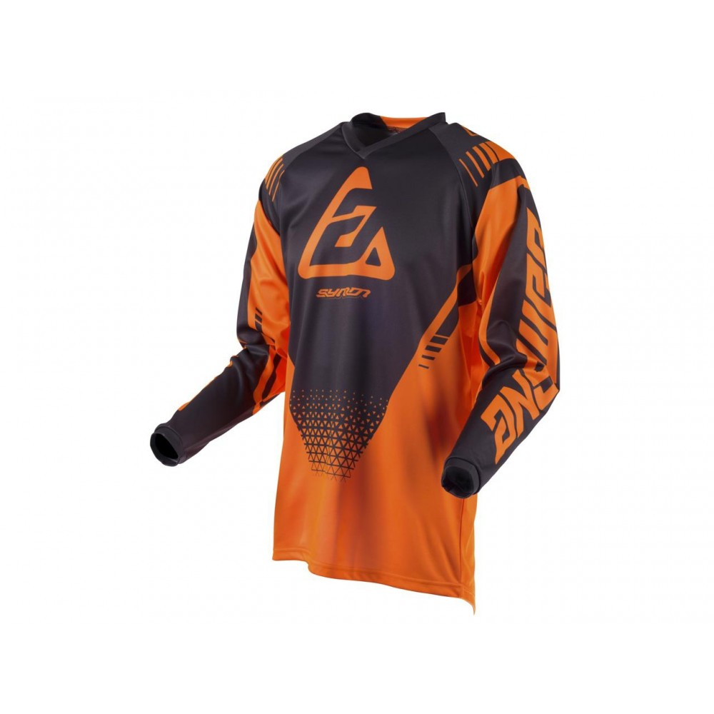 MAILLOT ANSWER SYNCRON DRIFT ORANGE FLUO/CHARCOAL