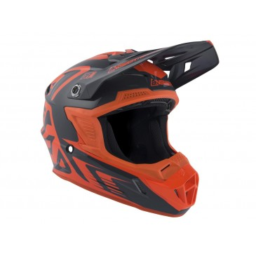 CASQUE ANSWER AR1 EDGE CHARCOAL/ORANGE FLUO