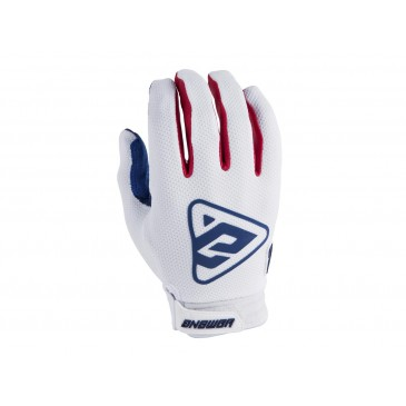GANTS ANSWER AR3 BLANC/ROUGE