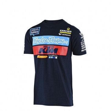 TEE SHIRT ENFANT TROY LEE DESIGN /KTM TEAM NAVY 2019