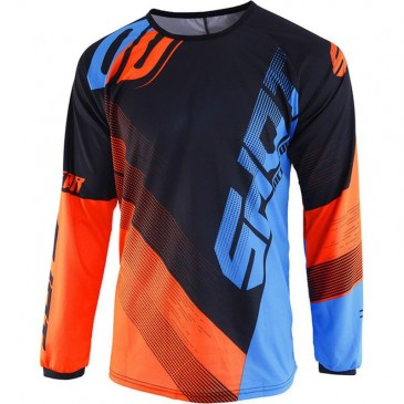 MAILLOT SHOT ULTIMATE BLEU NEON/ORANGE