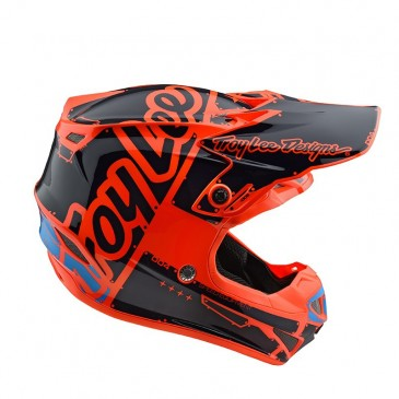 CASQUE ENFANT TROY LEE DESIGNS SE4 FACTORY ORANGE