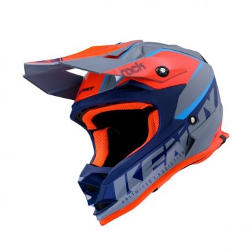 CASQUE ENFANT KENNY TRACK FOCUS ORANGE/BLEU