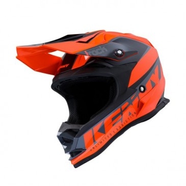 CASQUE ENFANT KENNY TRACK FOCUS ORANGE FLUO