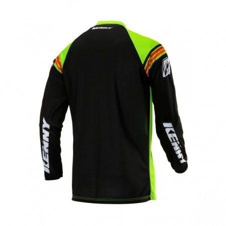 MAILLOT KENNY TRACK VICTORY VERT FLUO/NOIR