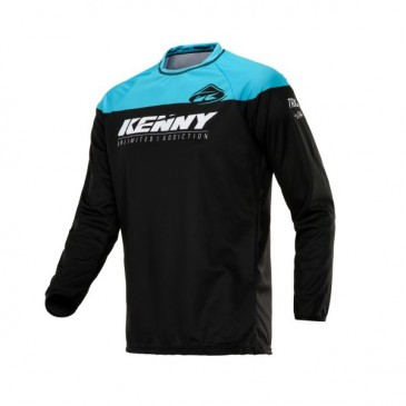MAILLOT ENFANT KENNY TRACK RAW NOIR/TURQUOISE