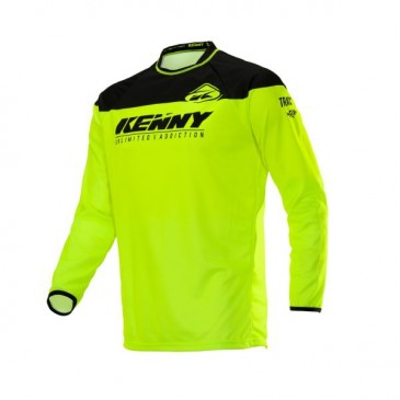 MAILLOT ENFANT KENNY TRACK RAW JAUNE FLUO