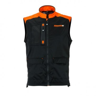 BODYWARMER KENNY NOIR/ORANGE FLUO