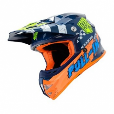 CASQUE ENFANT PULL-IN TRASH NLEU/ORANGE