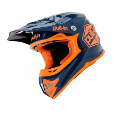 CASQUE ENFANT PULL-IN SOLID BLEU/ORANGE FLUO