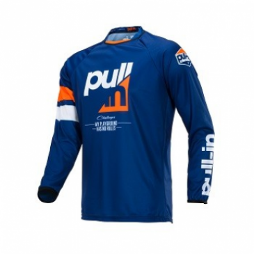 MAILLOT ENFANT PULL-IL RACE ORANGE/BLEU