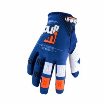 GANTS ENFANT PULL-IN RACE BLEU/ORANGE