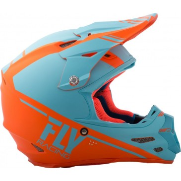CASQUE FLY F2 CARBON REWIRE ORANGE BLEU