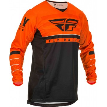 MAILLOT FLY KINETIC K120 ORANGE/NOIR/BLANC