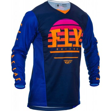 MAILLOT FLY KINETIC K220 MIDNIGHT/BLEU/ORANGE