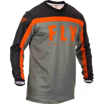 MAILLOT FLY F-16 GRIS/NOIR/ORANGE