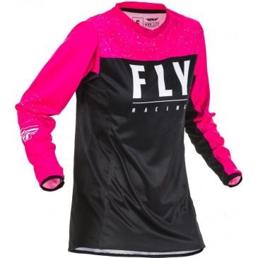 MAILLOT FEMME FLY LITE ROSE FLUO/NOIR
