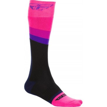 CHAUSSETTES FLY MX THICK ROSE/NOIR