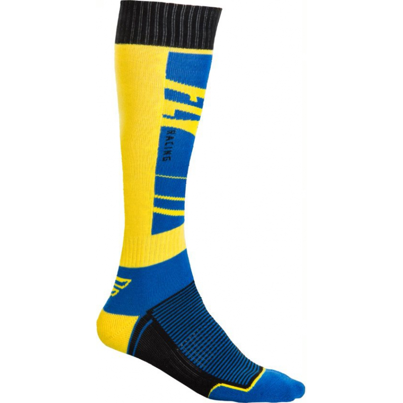 CHAUSSETTES FLY MX THIN NAVY/JAUNE
