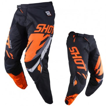 PANTALON SHOT SCORE NOIR/NEON ORANGE