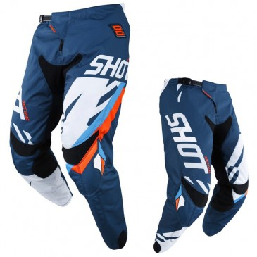 PANTALON SHOT SCORE BLEU/NEON ORANGE
