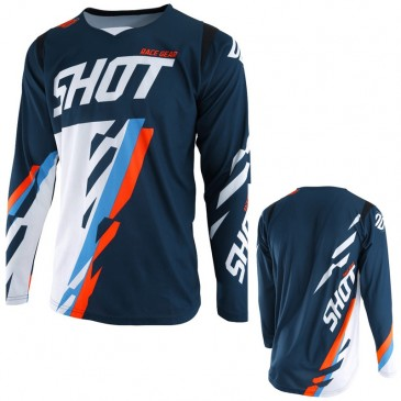 MAILLOT SHOT SCORE BLEU/NEON ORANGE S