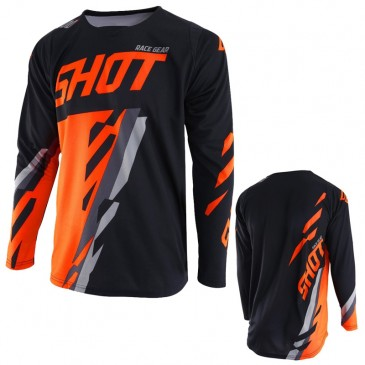 MAILLOT SHOT SCORE NOIR/NEON ORANGE