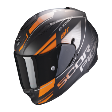 CASQUE SCORPION EXO 510  AIR FERRUM NOIR MAT/ORANGE