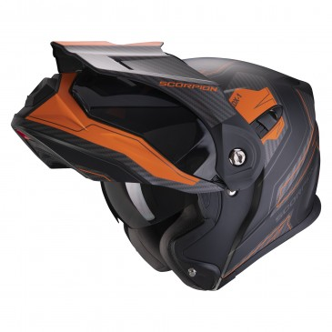 CASQUE AVENTURE MODULABLE SCORPION ADX-1 TUCSON NOIR MAT/ORANGE