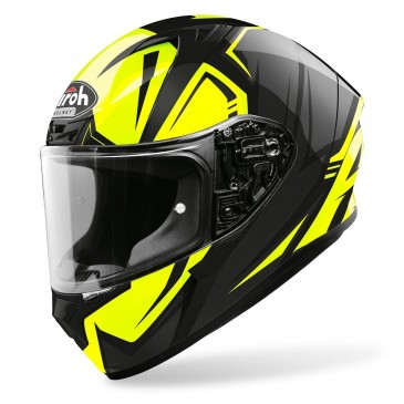 CASQUE ROUTE AIROH VALOR IMPACT JAUNE BRILLANT