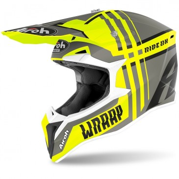 CASQUE AIROH WRAAP BROKEN JAUNE MAT