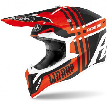CASQUE AIROH WRAAP BROKEN ORANGE MAT