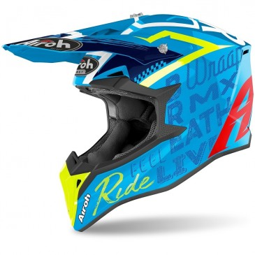 CASQUE AIROH WRAAP STREET AZURE BRILLANT
