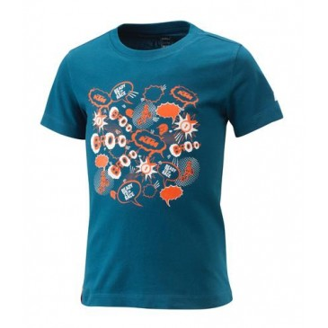 KIDS RADICAL TEE BLUE 104/3-4Y