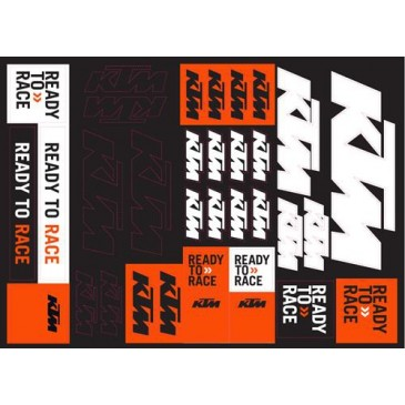 PLANCHE STICKERS KTM TEAM CORPORATE