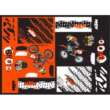 PLANCHE STICKERS KTM TEAM GRAPHIC