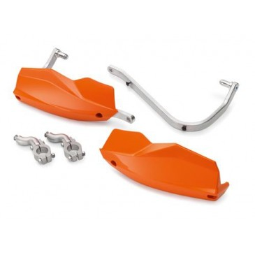 KIT DE PROTEGE MAINS KTM AVEC RENFORT ALUMINIUM ORANGE