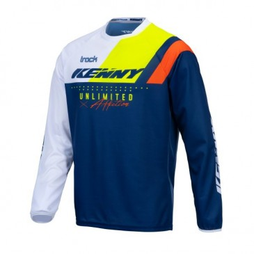 MAILLOT KENNY TRACK FOCUS NAVY/JAUNE FLUO