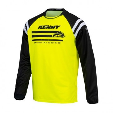 MAILLOT KENNY TRACK RAW JAUNE FLUO