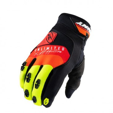 GANTS KENNY SAFETY NOIR/ROUGE/ORANGE