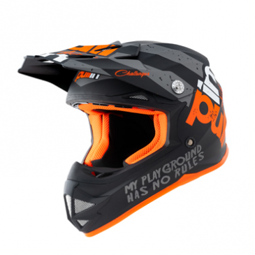 CASQUE PULL-IN ENFANT TRASH KID NOIR/ORANGE/GRIS