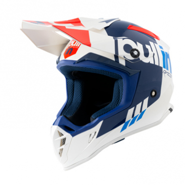 CASQUE PULL-IN RACE BLANC/ROUGE