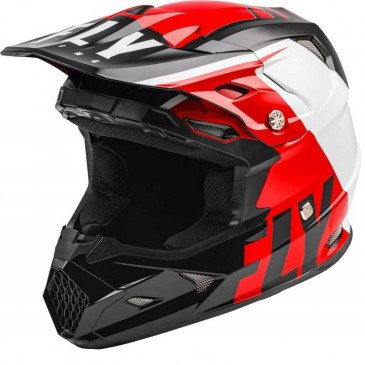 CASQUE FLY TOXIN TRANSFER 2020 ROUGE/NOIR/BLANC