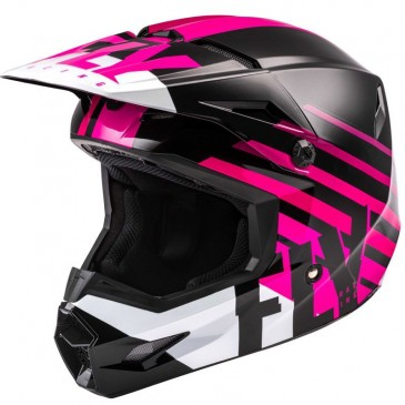 CASQUE FLY KINETIC THRIVE ROSE/NOIR/BLANC
