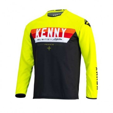 MAILLOT KENNY FORCE ADULTE JAUNE FLUO