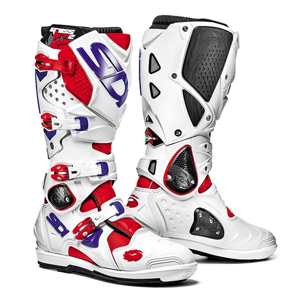 BOTTES SIDI CROSSFIRE 2SRS ROUGE/BLANCHE/BLEUE