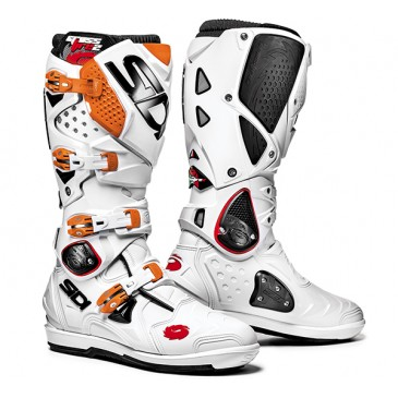 BOTTES SIDI CROSSFIRE 2SRS BLANC/ORANGE