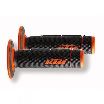 POIGNEE C/C KTM 2K GRIP ORG/NOIR